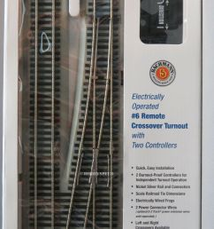 bachmann e z track ho 6 rh crossover switch w 2 controllers ns train gray 44576 [ 1200 x 1600 Pixel ]