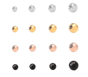 Gewindekugel Kugel Ball Chirurgenstahl Ersatzkugel mit Gewinde Piercing