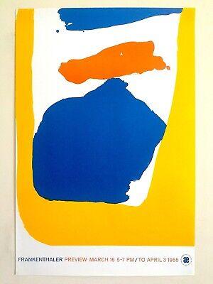 helen frankenthaler rare 1965 1st edn abstrct exp silkscreen print exhbt poster ebay