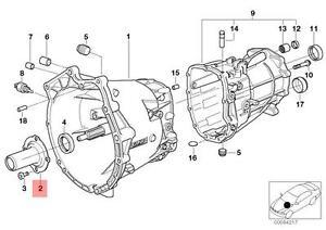 Genuine BMW E32 E34 E36 E38 Z3 Engine Oil Dipstick Guide