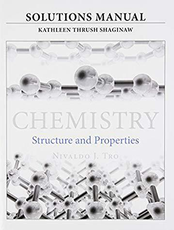 Chemistry Structure and Properties Solutions Manual by