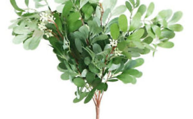 Artificial White Flower 9 Heads Jujube Leaf Bouquet Plant