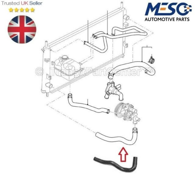 Ford TRANSIT Connect Radiator Lower Bottom Hose 2003