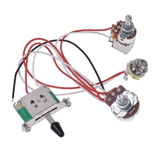 small resolution of details about guitar wiring harness prewired kit 3 way toggle switch 1 volume 1 tone 500k pots
