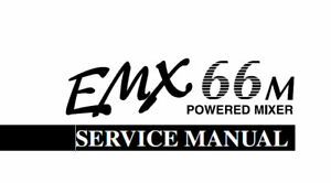 YAMAHA EMX66m POWERED MIXER SERVICE MANUAL BOOK INC