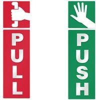 Push and Pull Door Window 2 Option Vinyl Decal Information ...