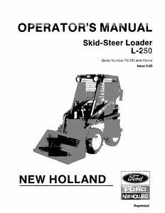 NEW HOLLAND L-250 SKID-STEER LOADER OPERATORS OPERATION