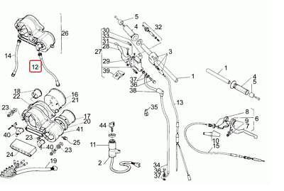 Aprilia RS 50 Speedometer Odometer Cable Cavo Contakm