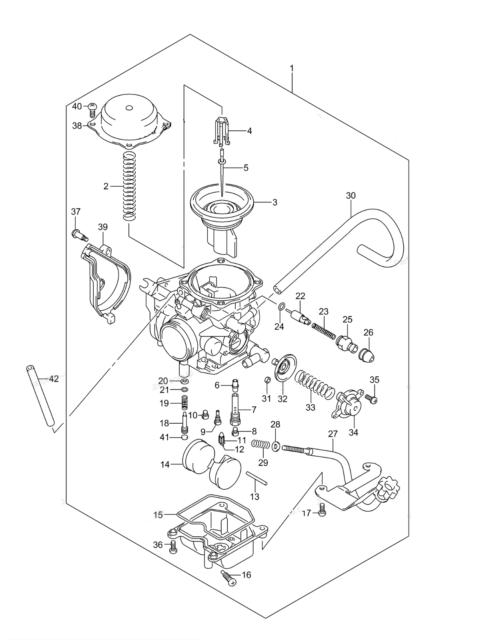 New Carburetor for 2005-2007 Suzuki Vinson 500 4x4 LTF LTA