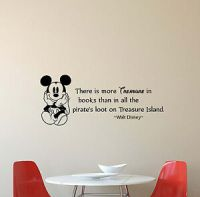 Walt Disney Quote Wall Decal There Is More Treasure Vinyl ...