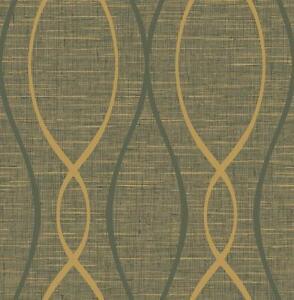 La carta da parati è un tipo di carta utilizzato per il rivestimento di pareti e superfici verticali. Carta Da Parati Moderno Oro E Nero Wave Linee Su Sfondo Di Tessuto Ecopelle Ebay