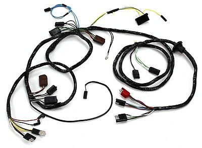 Mustang Head Light Wiring Harness With Tach non GT 1968