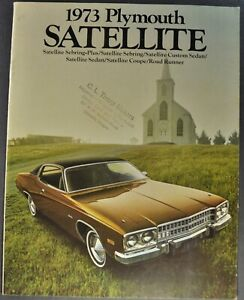 1973 Satellite Sebring : satellite, sebring, Plymouth, Satellite, Brochure, Runner, Sebring, Excellent, Original