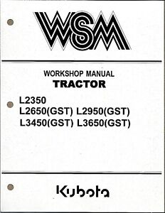 Kubota L2350,L2650 (GST),L2950,L3450,L3650 (GST) Tractor