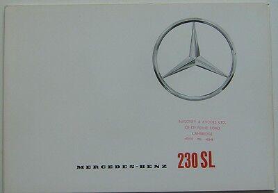 Mercedes Benz 230 SL Pagoda 1963-65 Original UK Sales