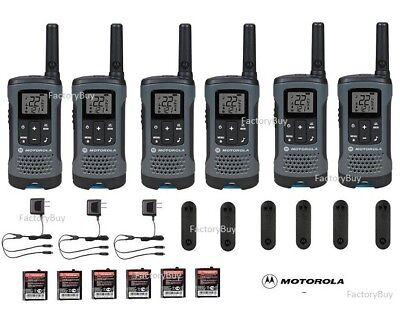 Motorola Talkabout T200 Walkie Talkie 6 Pack Set 20 Mile