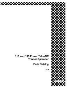 CASE IH 115 & 135 POWER TAKE OFF SPREADER COMPLETE PARTS