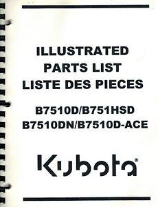 KUBOTA ORIGINAL B7510D B7510HSD B7510DN B7510D-ACE LAWN