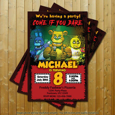five nights at freddy s fnaf birthday party invitations 15 printed w envelopes ebay