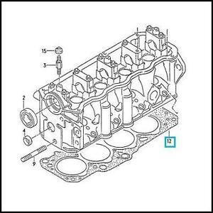 GENUINE VW T4 TRANSPORTER 1.9 D/TD CYLINDER HEAD GASKET 2