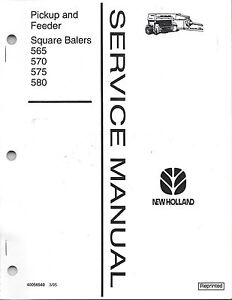 New Holland Square Baler Pickup & Feeder Service Manual