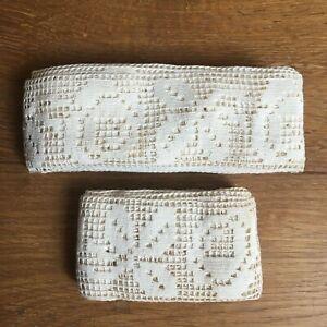 details sur lot dentelle ancienne galon bordure pour drap rideau poupee french old lace
