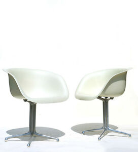 eames chair herman miller white resin chairs wedding reception charles shell fiberglass 50s 60s image is loading