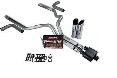 chevy gmc 1500 07 14 3 dual exhaust kits flowmaster super 10 slash tip side ex ebay
