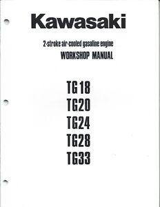Kawasaki TG18 TG20 TG24 TG28 Stroke Air Cooled Engine