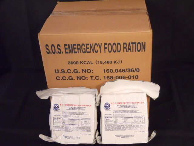 LOT OF 5 3600 CALORIE EMERGENCY FOOD RATION BARS  SURVIVAL FOOD STORAGE DISASTER 2