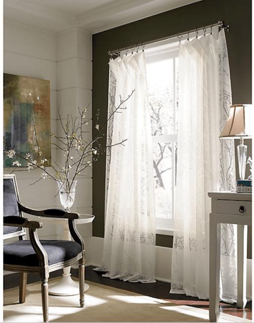 branchbrook burnout window curtain sheer panel 54x84