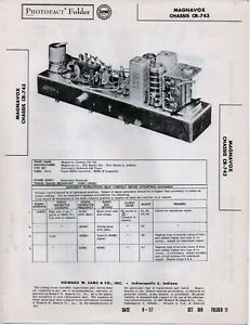 1957 MAGNAVOX CR-743 AM TUNER CHASSIS SERVICE MANUAL