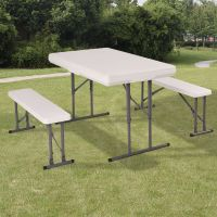Picnic Folding Bench Portable Camping Table Chair Set ...