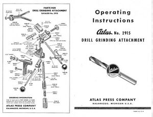 1939 Atlas W30 / Kalamazoo 2915 Drill Grinder Attachment