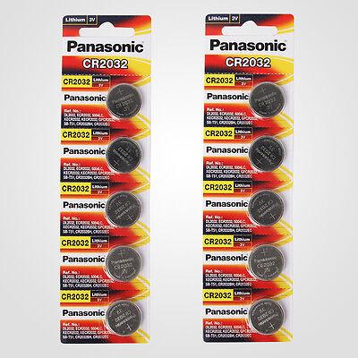 Panasonic CR2032 3V Lithium Battery 2PACK X (5PCS) =10 Single Use Batteries 4984824343108   eBay