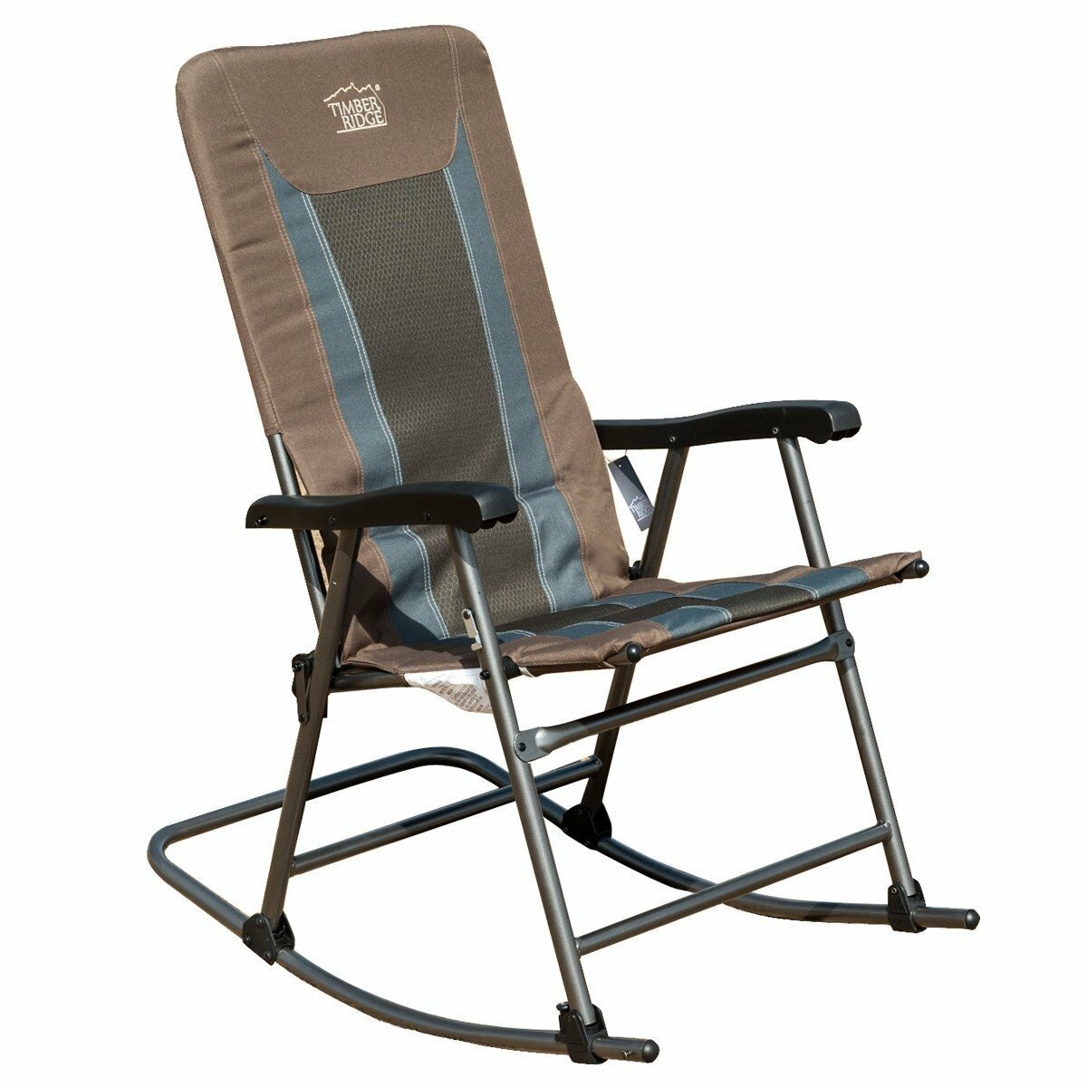 Folding Camping High Chair Timber Ridge Smooth Glide Lightweight Padded Folding
