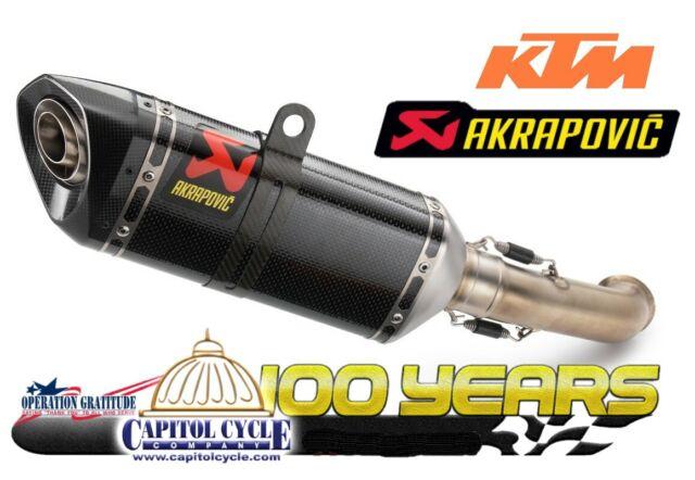 ktm duke 390 silencer approved akrapovic 93505999000