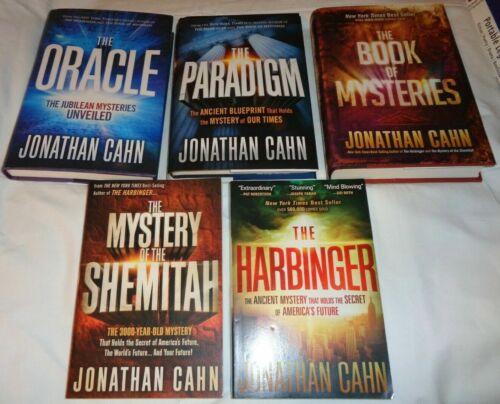 Jonathan Cahn  5 BOOK SET HARBINGER, ORACLE, PARADIGM,  ETC. NEW  EXPEDITED SHIP