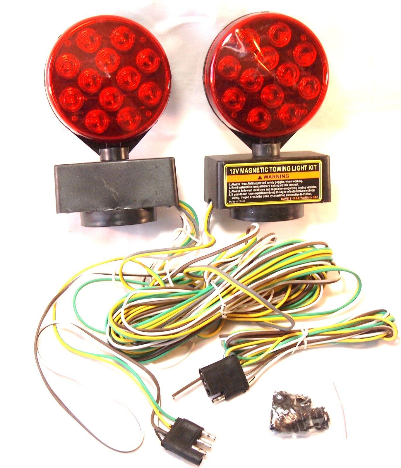 hight resolution of 12v 24 led magnetic towing trailer light kit ebay wiring harness diagram wrecker parts magnetic wiring harness