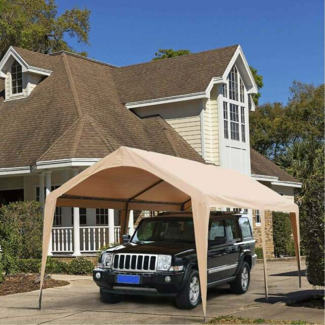 Beige Abba Patio Replacement Canopy Cover For 10 X 20 Feet Carport