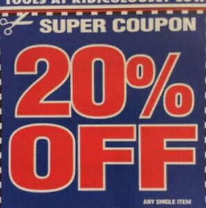 Harbor Freight Coupons 20 Off April 2019