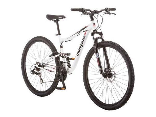 Mongoose Ledge 3.5 Men's 29 Inch Mountain Bike White Red