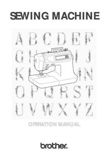 Brother PC 6500 Sewing Machine Owners Instruction Manual