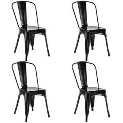 Tolix Side Chair Toddler High Chairs Set Of 4 Style Dining Stackable Bistro Cafe Metal Image Is Loading