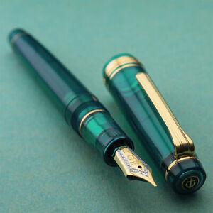 Sailor Limited Professional Aqua Green Gear G 21K Gold F Nib Fountain Pen | eBay