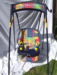 Vintage Graco Wind Up Baby Swing. 2 Speeds. Seat Belt ...