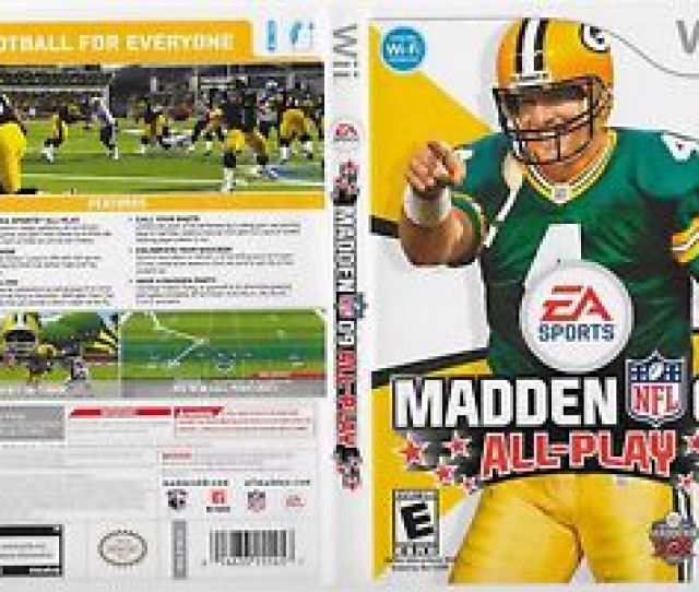 Image Is Loading Brett Favre 4 Green Bay Packers Wii Madden