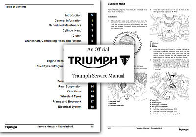 Triumph Thunderbird 1600 1700 Workshop Service Shop Manual