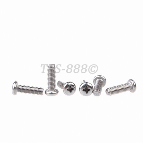 A2 304 Stainless Steel Phillips Pan Head Machine Screw M1
