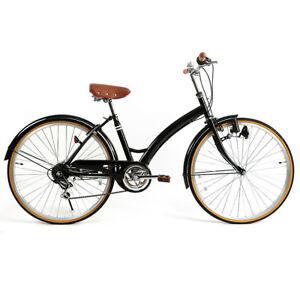 Women's Bike 26'' Hybrid Bike City Commuter 6 Speed